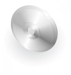 silver metallic cd or dvd vector image vector image