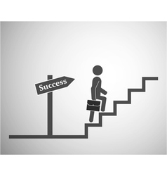 Stairs to success vector