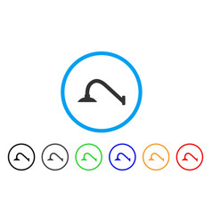 Tap mixer rounded icon vector