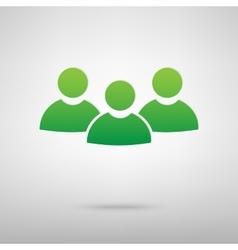 Team work green icon vector image vector image