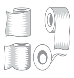 Toilet paper icon7 resize vector image