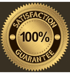 100 percent satisfaction guarantee vector image vector image