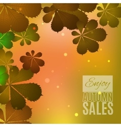 Fall sale design enjoy autumn sales banner vector