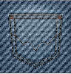 Jeans pocket vector