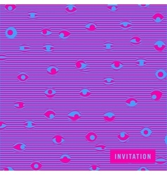 Invitation with psychedelic eyes covers for books vector
