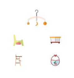 flat baby set of playground mobile child chair vector image