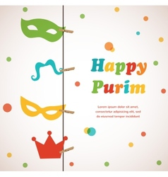 Jewish holiday purim set  happy purim vector