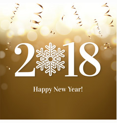 2018 new year postcard- vector image