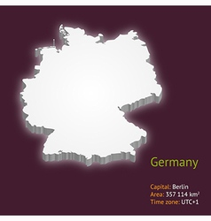 3d map of Germany vector image