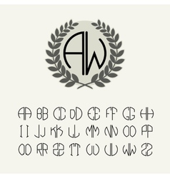 Set template letters to create monograms vector