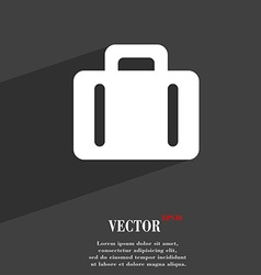 Suitcase icon symbol flat modern web design with vector