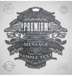 Chalk typography calligraphic vector