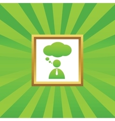 Thinking person picture icon vector
