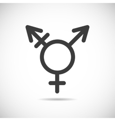 Transgender symbol icon vector
