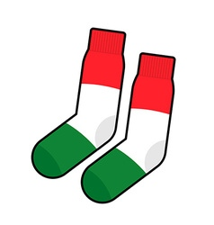 Patriot socks italy clothing accessory italian vector