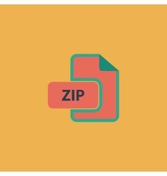 Zip archive file extension icon vector