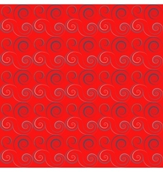 Seamless floral spiral pattern twirl lines twist vector