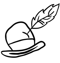 Simple black and white hat vector