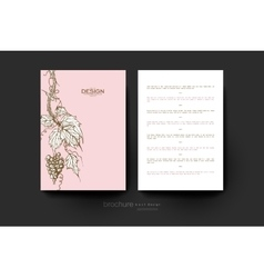 Grapes ornament brochure template flyer vector