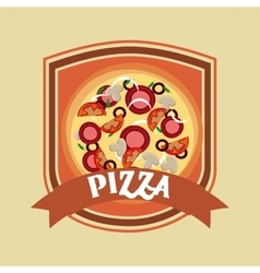 Pizza icon fast food design graphic vector