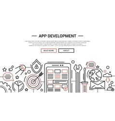 App development - line design website banner vector