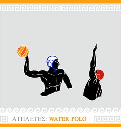 Athlete water polo players vector