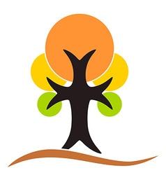 Autumn tree logo vector