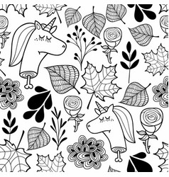 Black and white wallpaper with dead unicorns for vector