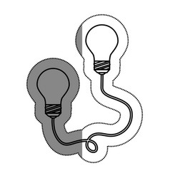 bulb light drawing icon vector image
