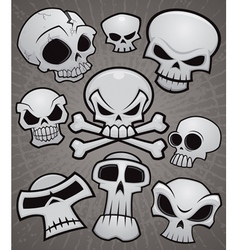 Cartoon Skull Collection vector image