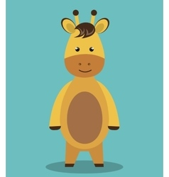 Cute horse animal farm isolated icon design vector