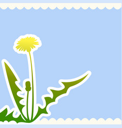 Dandelion flower on a beige background vector