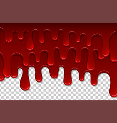 Dripping blood isolated pattern flowing red vector