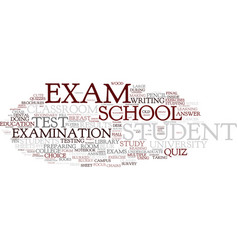 Exam word cloud concept vector