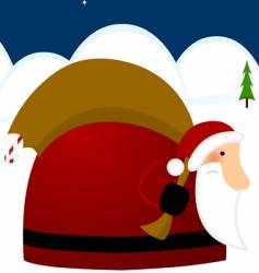 father Christmas vector image