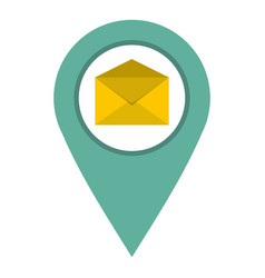 Geo tag mail icon isolated vector