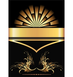 golden ornament poster vector image vector image