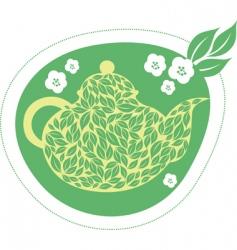 green jasmine tea vector image vector image