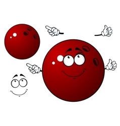 Happy bowling ball with waving hands vector image vector image