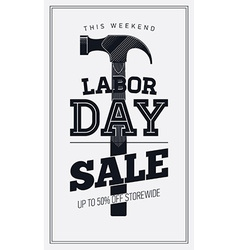 Labor Day Sale Poster vector image vector image