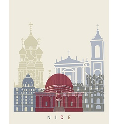 Nice skyline poster vector image vector image