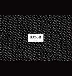 razor blade pattern vector image vector image