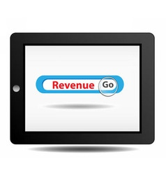 Revenue search on ipad vector image