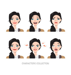 set of emotions for business woman vector image vector image