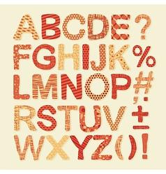 Textured Alphabet Set vector image vector image