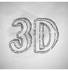 Three d icon vector