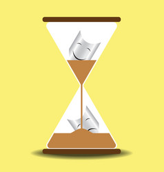 time heal sand glass concept vector image