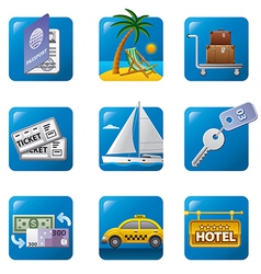 tourism icon set2 vector image