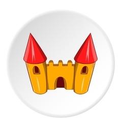 Toy castle icon cartoon style vector image