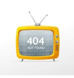 Tv retro cartoon style 404 error concept vector